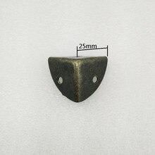 Античная Стиль металла углу окна защиты железа случае края охранник угол, бронзовый тон, 25*25*25 мм, 4 шт.