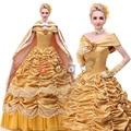 Alta calidad por encargo de la princesa bella y la bestia belle cosplay costume dress dress de princesa dress