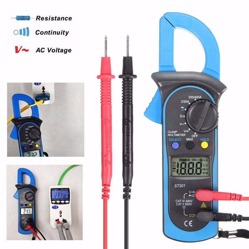 Digital Clamp Meter Multimeter Current OHM Amp Meter AC DC Voltage Current Resistance Probe Tester Measurement clamp multimeter dt3266l lcd display digital multimeter handle ac voltage current resistance tester dt3266l multimeter tester