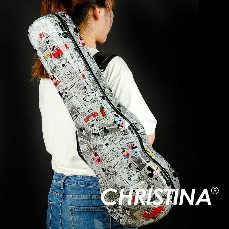 Italia Christina custodia del violino 4/4 violino caso in fibra di carbonio Multi colore Mickey Mouse accessori per Violino con due archi titolari