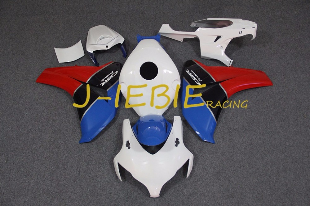 White blue red Injection Fairing Body Work Frame Kit for HONDA CBR1000RR CBR 1000 CBR1000 RR 2008 2009 2010 2011