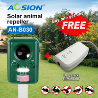 Buy AOSION Solar Ultrasonic Pest Repeller Wild Animal Birds Dogs Cats Repellent Got Poetable Dog Repeller