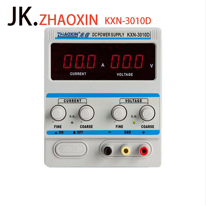 цена на ZHAOXIN Precision Variable Adjustable KXN-3010D 30V 10A DC Power Supply Switching Power + DC conversion head