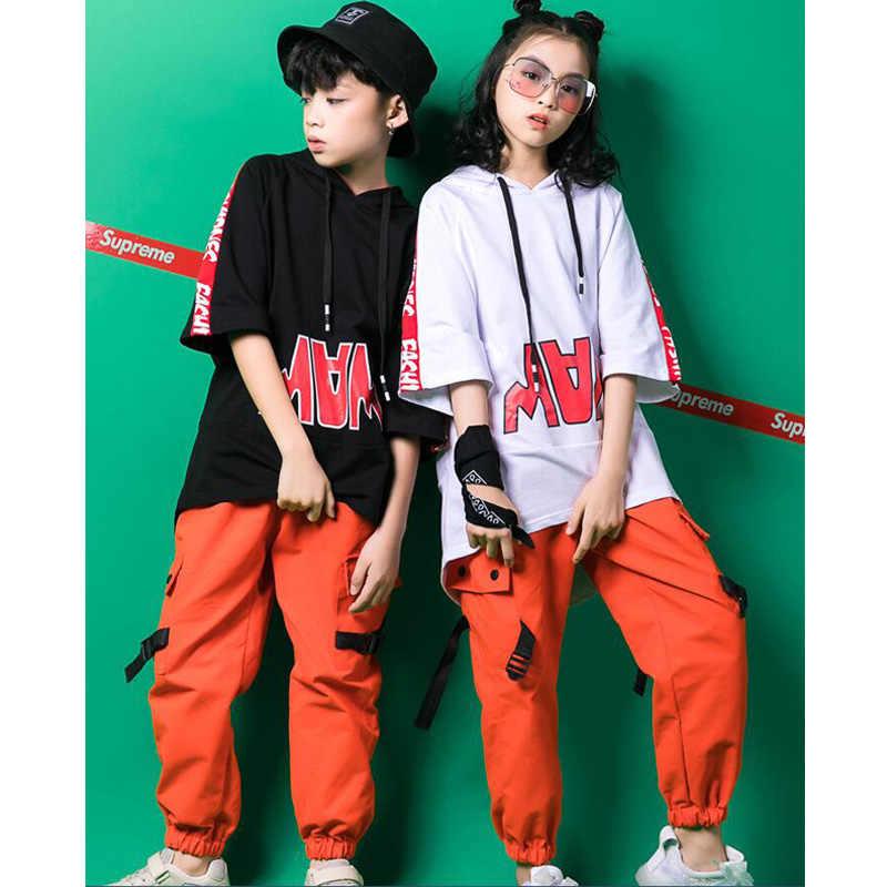 65e6349fb Kids Jazz Dance Stage wear Costumes Girls hip-hop Dancing clothing Suits  Boys Modern Dance