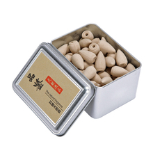 Box Packed 80Pcs Backflow Incense Cones Natural Aroma Sandalwood Reflux Incense for Tea House Meditation Colored Smoke