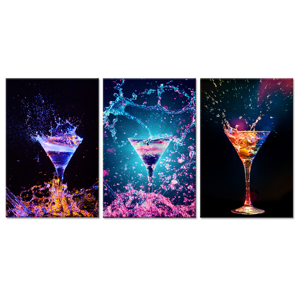 Splash Colorful Room Wall: Modern Kitchen Canvas Prints Wall Art Colorful Cocktail In