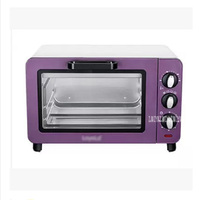 LO 15L 15L Capacity Mini oven oven mini oven Multifunction electric oven Power 1200W 100 230 degree purple Stainless steel shell