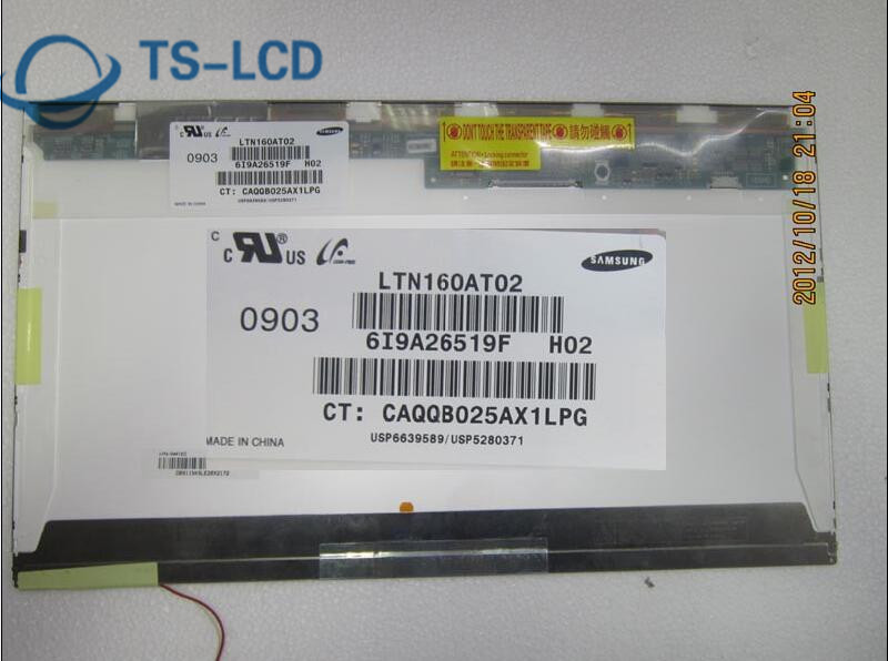 testing perfect 16.0 inch Brand A+ LTN160AT02-H02 lcd panel 12 months warranty