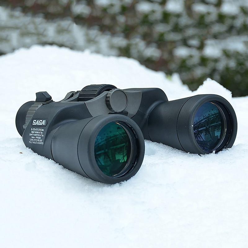 Powerful 8-20X50 High Magnification Long Range Zoom Hunting Telescope Wide Angle Professional Binoculars Definition