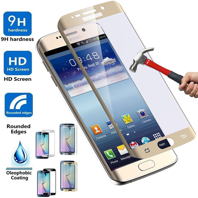 3D Curved Full Cover Tempered Glass Film Screen Protector for Samsung Galaxy...