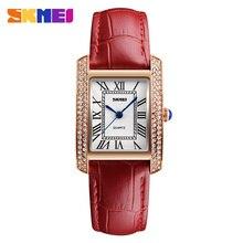 Mujeres relojes de Marca SKMEI Moda cuarzo reloj de Las Mujeres Reloj de pulsera de reloj relojes mujer vestido de las señoras de Negocio reloj montre femme