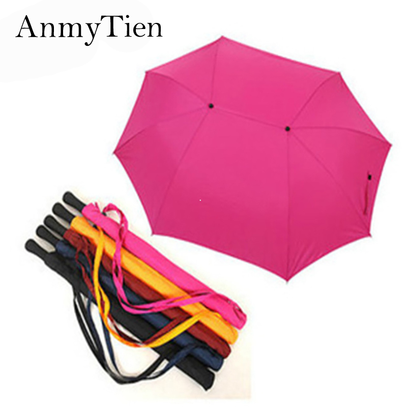 Free Shipping Hot Selling Lovers` Long-handle Couple Golf Umbrella Mother&Kids Long Umbrella