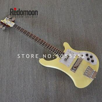 Personalizado de fábrica 4 cuerdas de Bajo Rickenback 4003 con 2 conectores de cuello a través de cuerpo guitarra eléctrica bajo tienda de instrumentos musicales