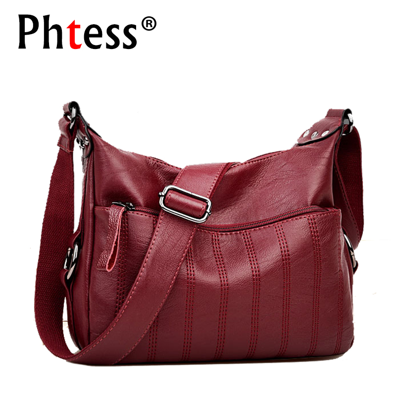 2018 Crossbody Bags For Women Sac a Main Soft Leather Shoulder Bags Female High Quality Handbags Women Messenger Bag Vintage все цены