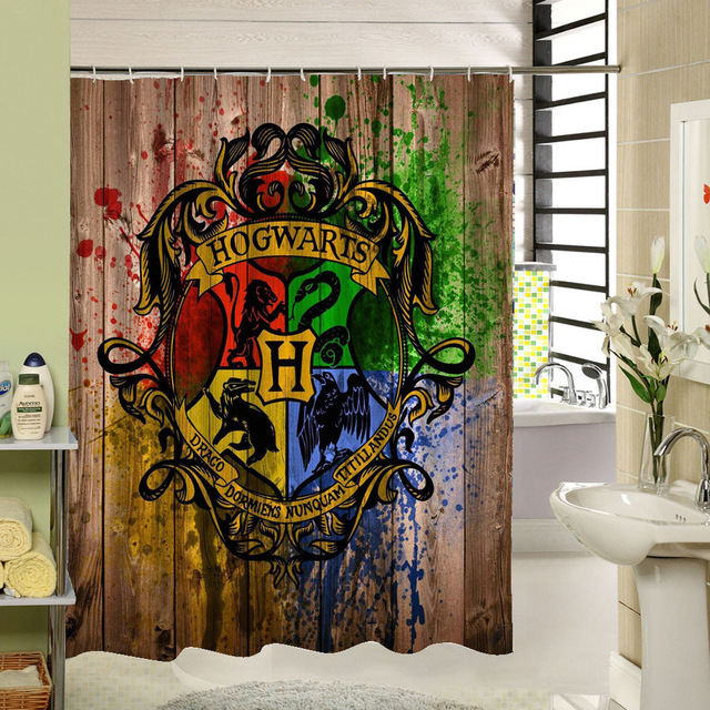 Polyester 3d Shower Curtain Old Bronze Wooden Garage Door Vintage Rustic  Decorative Curtain American Country Bathroom