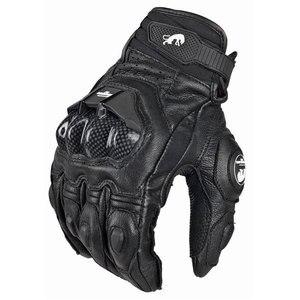 Image 1 - Real Genuine Leather Motorcycle Gloves GP PRO Riding Motobike Racing Cycling Luvas Moto Guantes Carbon Fiber Racing Cross bike