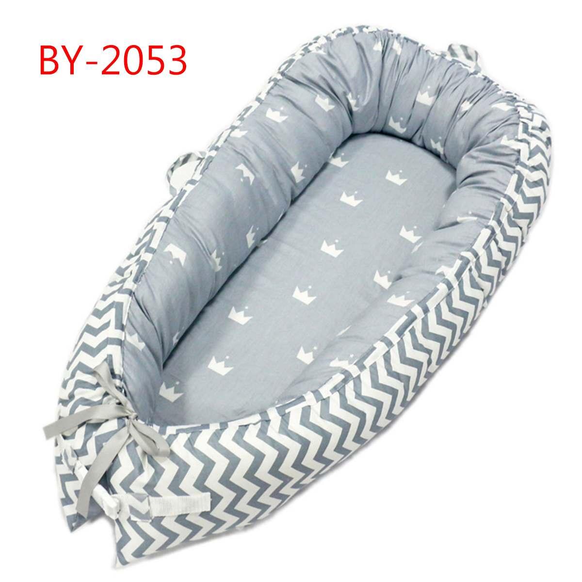 Démontable bébé berceau pépinière Portable infantile enfant en bas âge berceau multifonction nouveau-né pare-chocs sac de couchage pour les soins de bébé 50*80 cm