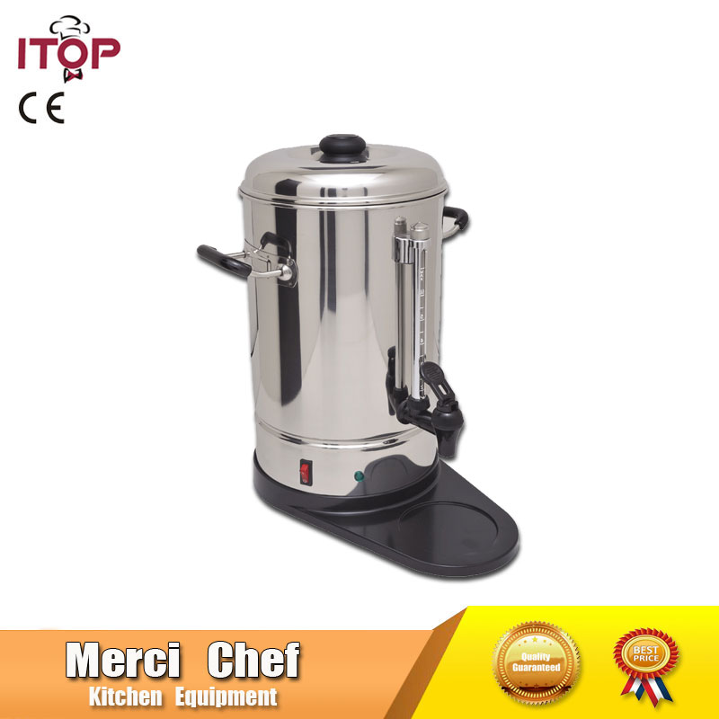 Coffee Maker Machine Stainless Steel 6L Coffee Maker commercial household coffee machine for party use Semi-automatic machine commercial 5l churro maker machine including 6l fryer