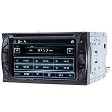 Pantalla Táctil Digital de DVD Del Coche Del Bluetooth Manos Libres de Llamada Automática Mic Radio Doble Din En el tablero Reproductor de Vídeo de Vídeo Estéreo Control táctil