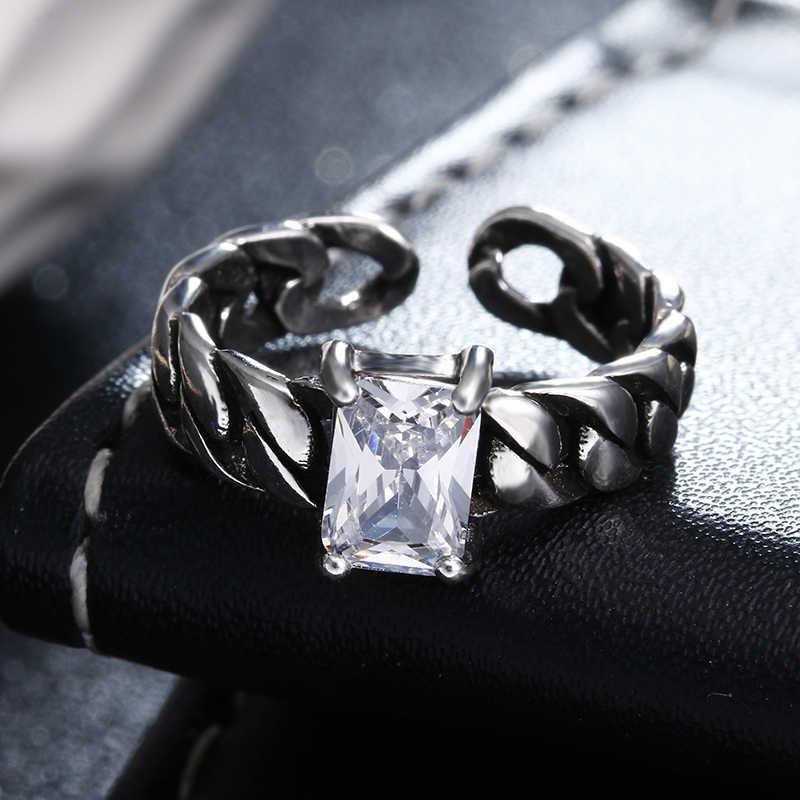 100% Plata de Ley 925 tailandesa plata brillante cz circón moda damas dedo anillos de boda mujeres regalo joyería femenina anillo barato