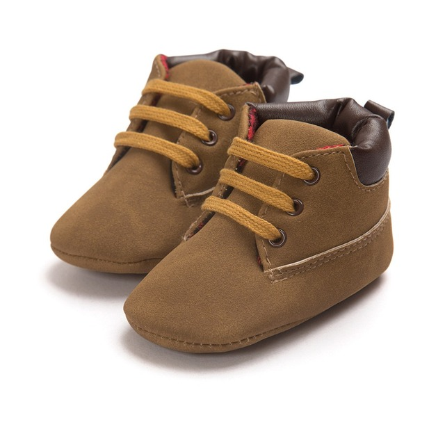 2019 Autumn PU suede Leather Baby moccasins Shoes infant anti-slip first walker for newborn boys soft bottom baby booties 4