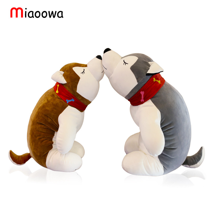 1pc 28cm Cute Husky Plush Toy Simulation Dog Staffed Animal Doll Baby Sleeping Appease Doll Kids Birthday Gifts cute simulation fox plush toys kids appease doll gifts