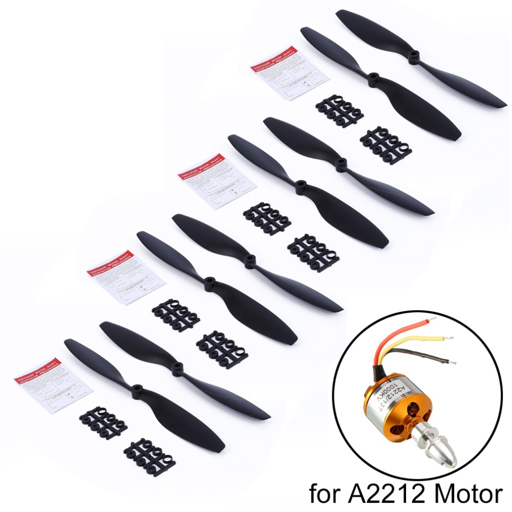 8pcs 1045 10 Propeller Prop CW CCW Blade for DJI F450 F550 RC Quadcopter Spare Parts Fit for A2212 KV1000 Motor(4 pairs) 10 pairs 6045 3 blade cw flat propeller ccw prop for rc multicopter quadcopter t026