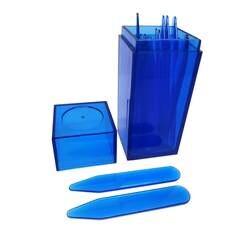 SHANH ZUN шт. 10 шт. синий пластиковый воротник остается кости жесткости 5 размеров смешанные в синий пластиковый контейнер банка