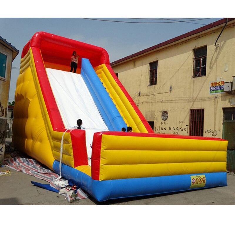 Corrediça inflável seca slide crianças grande trampolim de slides bouncer ventilador livre china fábrica