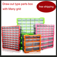 Lego Block Box Classification Box Many Grid Draw Out Type Parts Box Parts Ark The Toolkit