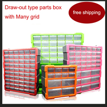 купить lego Block box Classification box Many grid Draw-out type Parts box Parts ark The toolkit box tool case toolbox high quality по цене 3653.21 рублей
