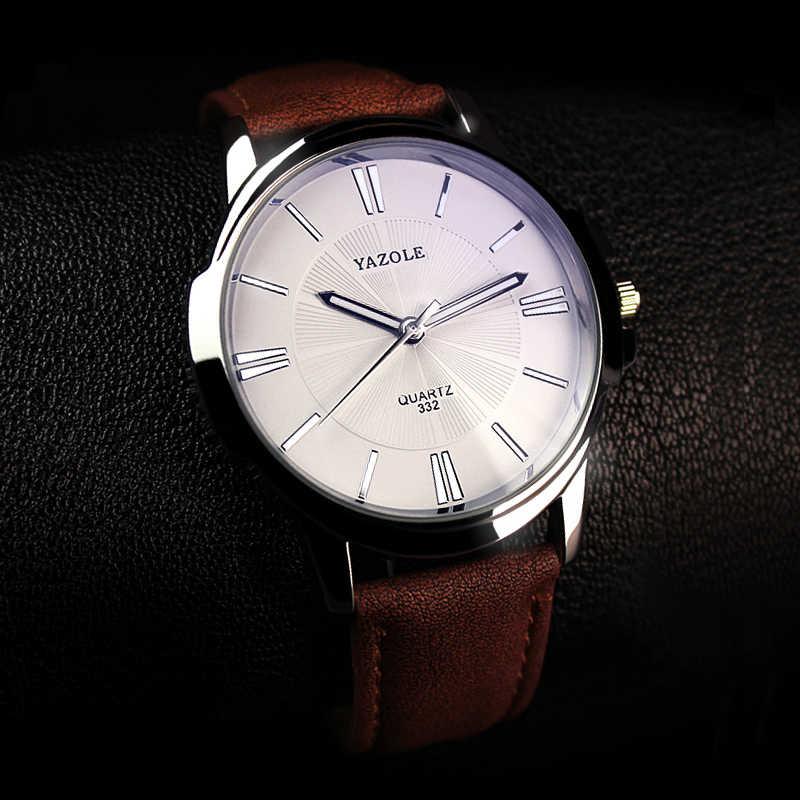 2020 นาฬิกาข้อมือชายนาฬิกา Yazole Quartz นาฬิกาผู้ชายที่มีชื่อเสียงนาฬิกาข้อมือนาฬิกาข้อมือธุรกิจ Quartz นาฬิกา Relogio Masculino
