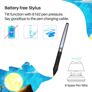 Image 3 - HUION HS610 Graphics Drawing Tablets Digital Battery Free Pen Tablet Android Phone Tablet with Tilt OTG for Windows Mac OS