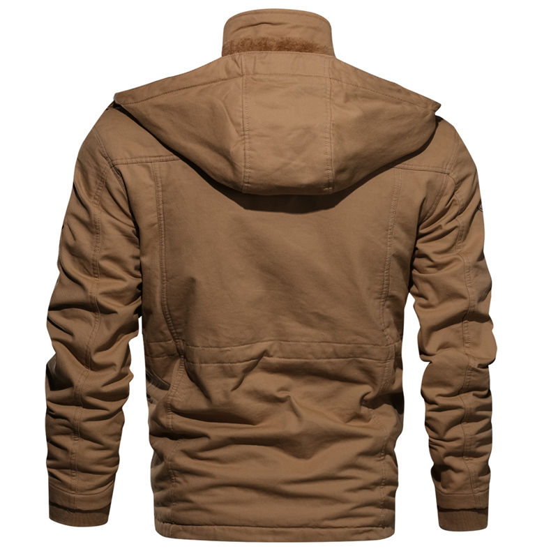 Image 4 - 2019 Men's Winter Fleece Jackets Warm Hooded Coat Thermal Thicken Windbreak Quality Outerwear Male Military Jackets M 4XL-in Jackets from Men's Clothing