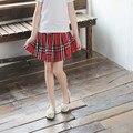 2017 girls skirts Summer new cotton plaid skirt kids Clothing hot selling children's wear china