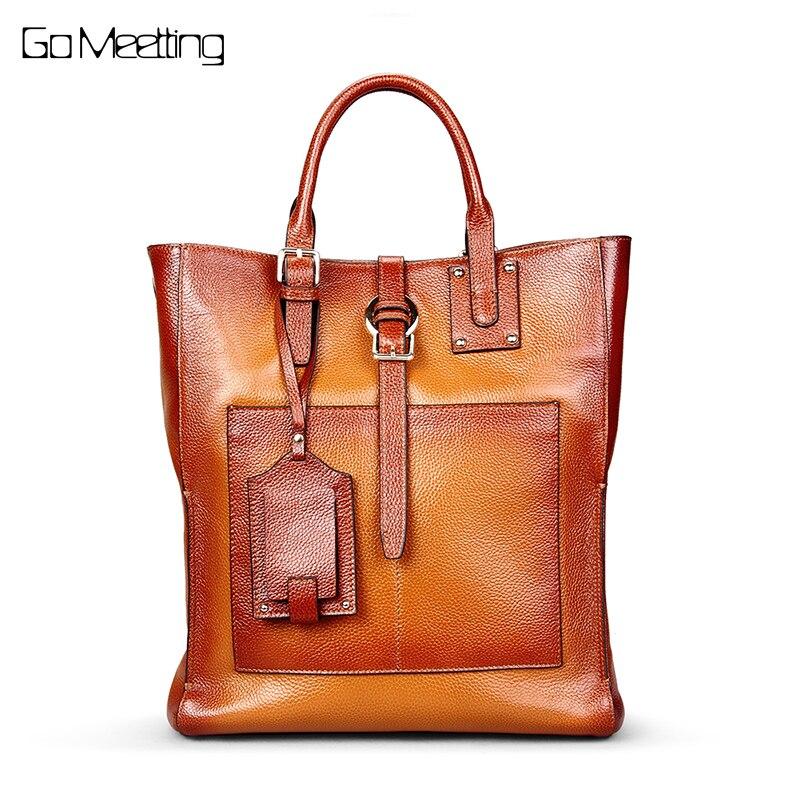 Andare Meetting di lusso del Cuoio Genuino delle donne delle borse del progettista sac a main Borsa Vintage di Spalla Borsoni borse crossbody per le donne