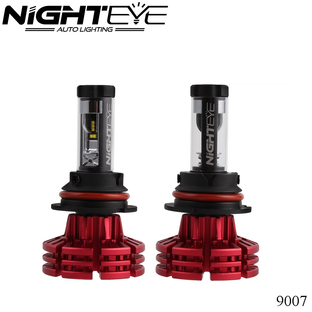 NIGHTEYE H7 H11 H1 H13 H3 9005 9006 9007 9012 5202 H4 LED Car Styling Headlight Bulb Hi-Lo Beam 60W 6500K Auto Headlamp 12v 24v vanaep h4 h7 h11 h1 h13 h3 9004 9005 9006 9007 9012 cob led car headlight bulb hi lo beam 45w 5400lm 6000k auto headlamp 12v 24