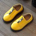 Baby boys boots spring 2017 new children's paint British wind color matching small leather  single shoes girls botas infantis 82