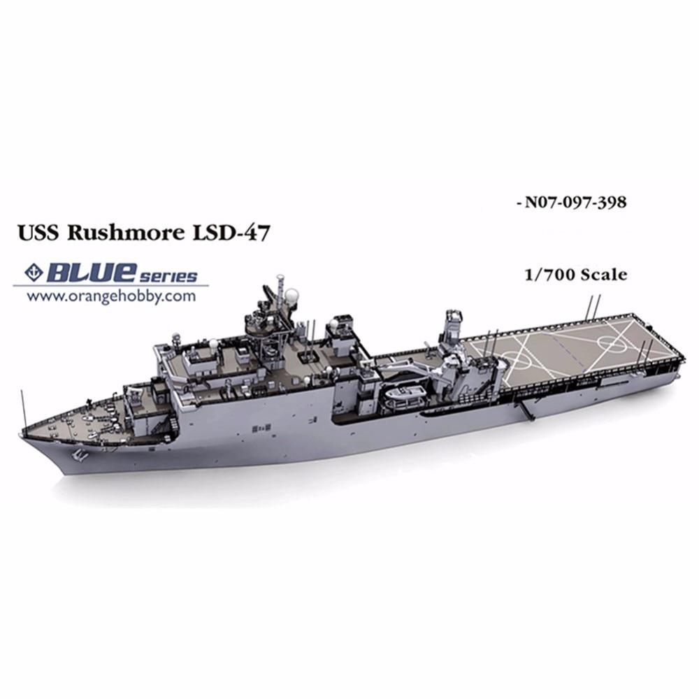 OHS Orange Hobby N07097398 1/700 USS Rushmore LSD47 Escala de - Juguetes de construcción