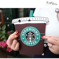 Soft 3D Cartoon Starbuck Coffee Cup Silicon Case For Ipad Mini 1 2 3 4 For