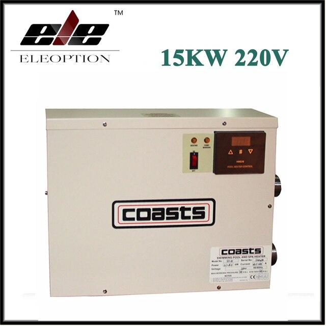 Eleoption 15kw 220 V Thermostat Piscine Spa Accueil Bain Chaud