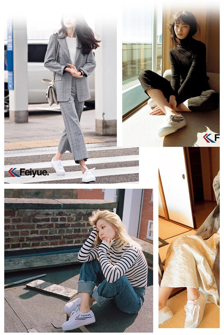 Feiyue shoes New classic Martial arts Tai Chi canvas shoes Rubber shoes men women sneakers 16