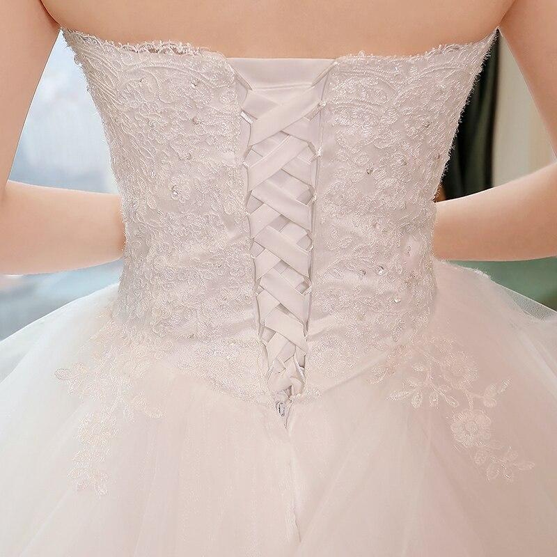 Nieuwe elegante prinses trouwjurken 2018 Sweet baljurk Lace Up Back - Trouwjurken - Foto 6