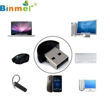 Binmer Mini USB Bluetooth Dongle Adapter for Laptop PC Win Xp Win7 8 for SmartPhone Wholesale