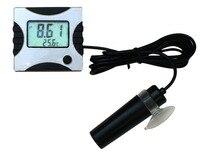 Aletler'ten PH Ölçerler'de Online Mini pH Sıcaklık Ölçer Monitör Test Cihazı Akvaryum Asitometre 6 V DC adaptörü ile su ürünleri