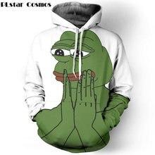 PLstar Cosmos Funny Sad Pepe The Frog printing 3d Sweatshirts Women Men Tracksuits size S-5XL