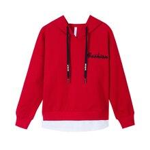 купить Spring Autumn Hoodies Women Fashion Long Sleeve Sweatshirt Hooded Pullover Tops With Pocket CASUAL Girls Clothes дешево