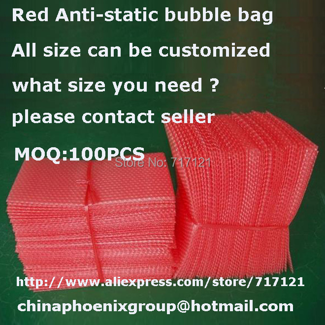 all size Red anti-static bubble bag can be customized, Minimum Order Quantity 100pcs what size you need please contact seller anti static elastic finger cots stalls yellow size l 50 pcs