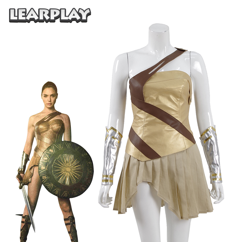 Wonder Woman Tranning Armor Cosplay Costume 2018 DC Amazon Warrior Adult Dress Battle Suits Halloween Outfit