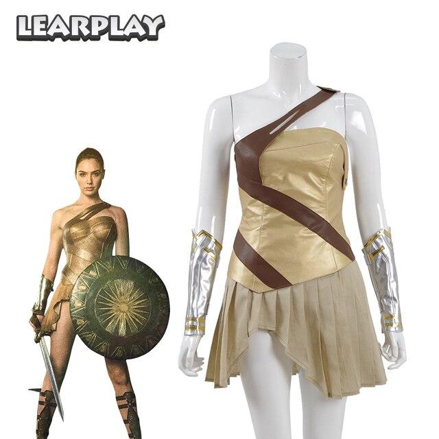 Wonder Woman Tranning Armatura Cosplay Costume 2018 DC Amazon Warrior Adult  Vestito Battaglia Vestiti di Carnevale 53432e695cf2